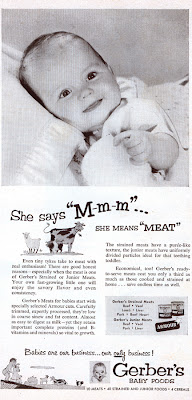 Interesting Vintage Advertisement of Gerber's baby food