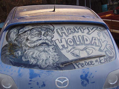 Painting on car windows using dirt (11) 9
