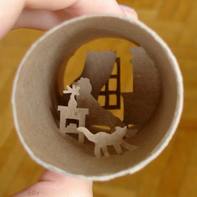 Artwork Created Inside The Toilet Paper Rolls (15) 14