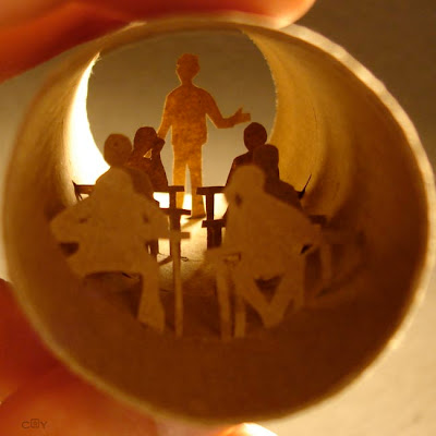 Artwork Created Inside The Toilet Paper Rolls (15) 9
