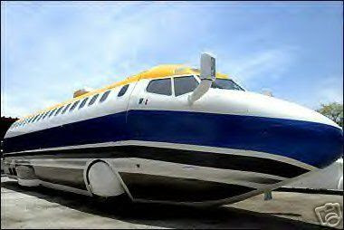 transformed Boeing 727 jet airplane into real big limousine (2) 1