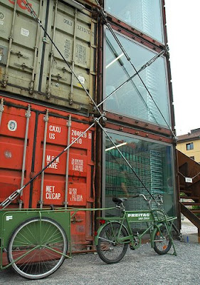 store  made from seventeen used freight containers (2) 1