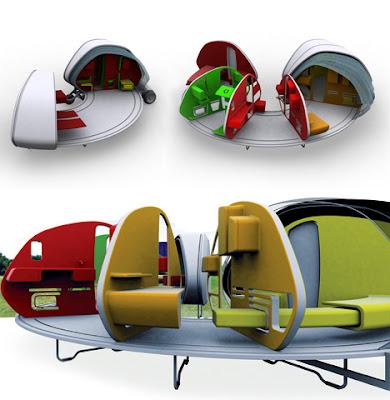 252° Living Area: Mobile Mini House.