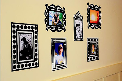 Re-Stickable Decal Photo Frames (3) 1