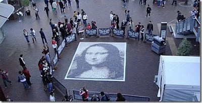 Mona Lisa Recreated With Cups Of Coffee (6) 1