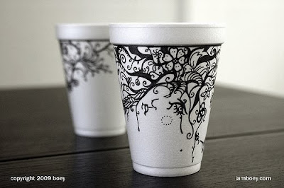 Art On Styrofoam Cups (11) 9