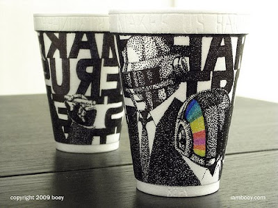 Art On Styrofoam Cups (11) 3