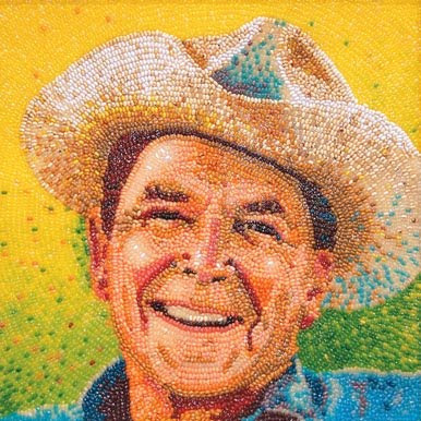 9 Creative and Cool Bean Art Portraits (9) 2