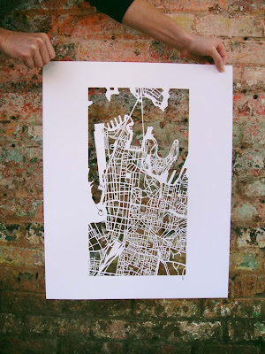 11 Creative and Cool Hand Cut Paper Maps (11) 7