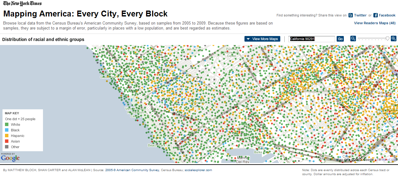 La Landscape Us Census Mapping - Mapping-the-us-census