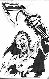 the top cow blog march 2009 The Darkness Jackie Estacado Armored i didn t mind the cg but i m not sure it really added anything to the film for me this sketch is inspired by the movie