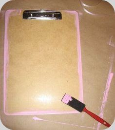 How To Make a Mod Podge Clipboard Craft momspark.net
