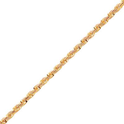 Emerald-cut Rope Chain
