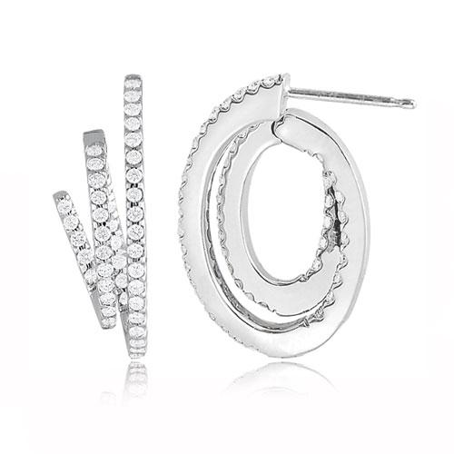 Designer Diamond Hoop Earrings