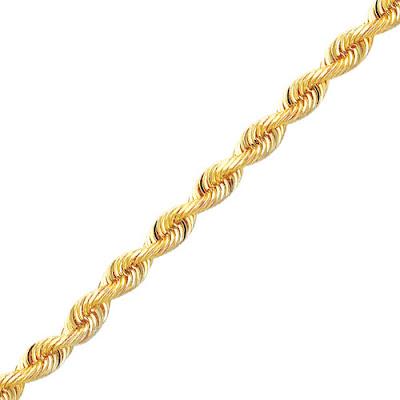 Diamond-cut Rope Chain