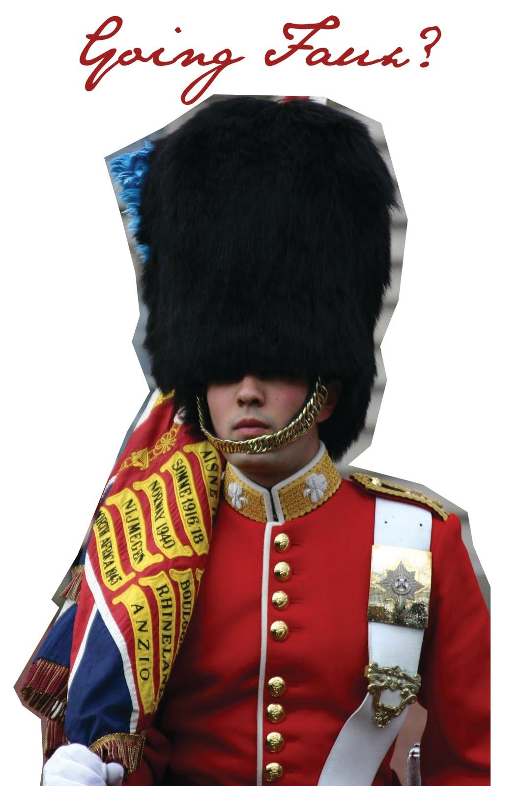 stella mccartney designing faux fur hats for guards at buckingham