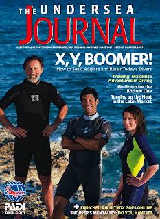 PADI's Undersea Journal second quarter 2009 cover
