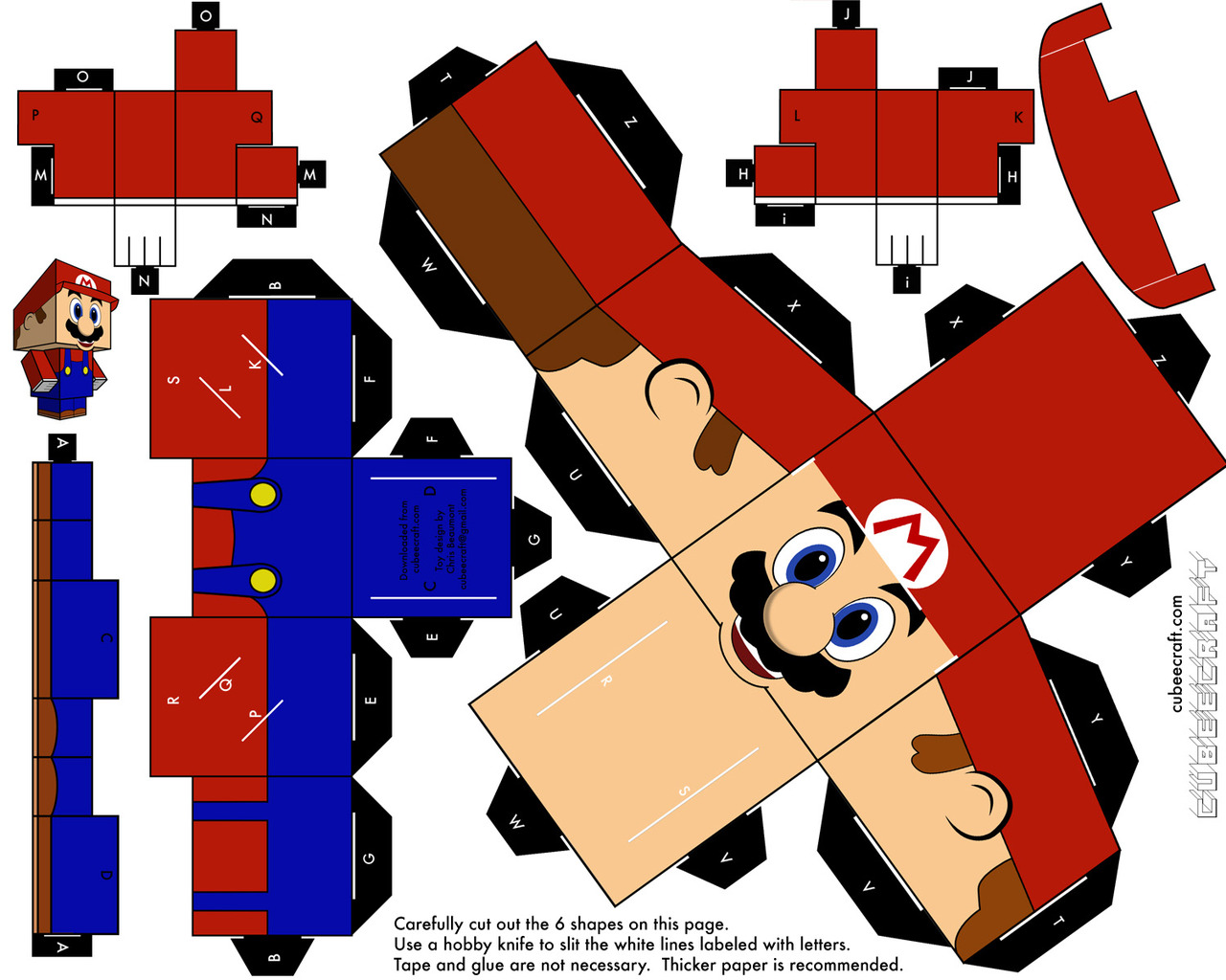 Kryptonian Warrior: Cool Super Mario Papercraft Figure...