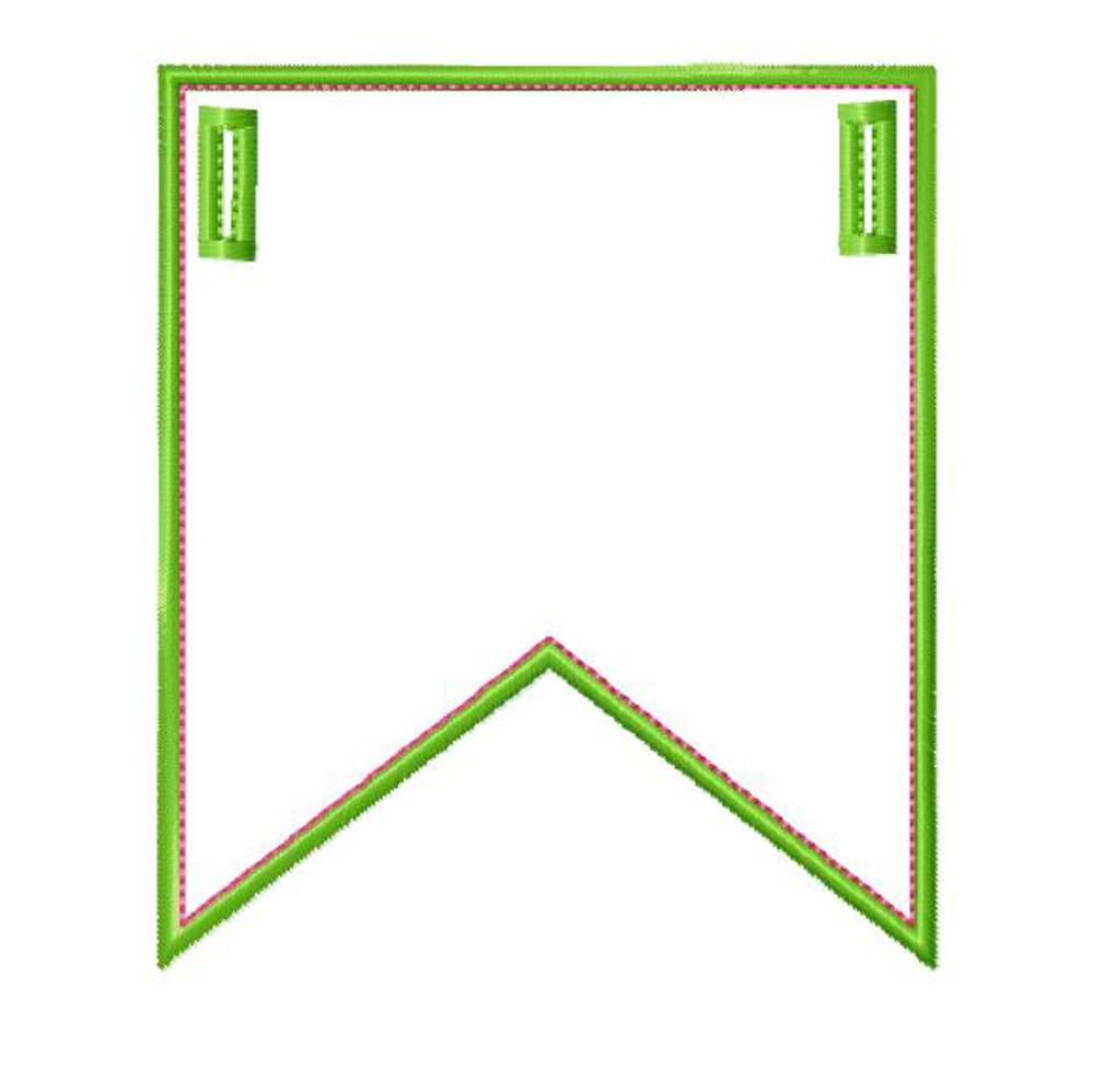 penant template - big dreams embroidery party banner machine embroidery