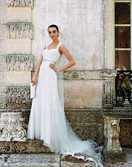 6a75597d02 Nicole Miller Bridal Gown EK0033 twist front gown with beading details   990