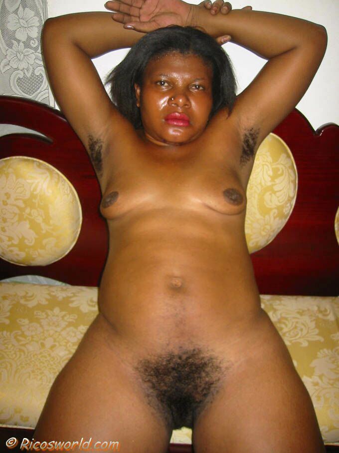 black hairy Rico woman world s pussy