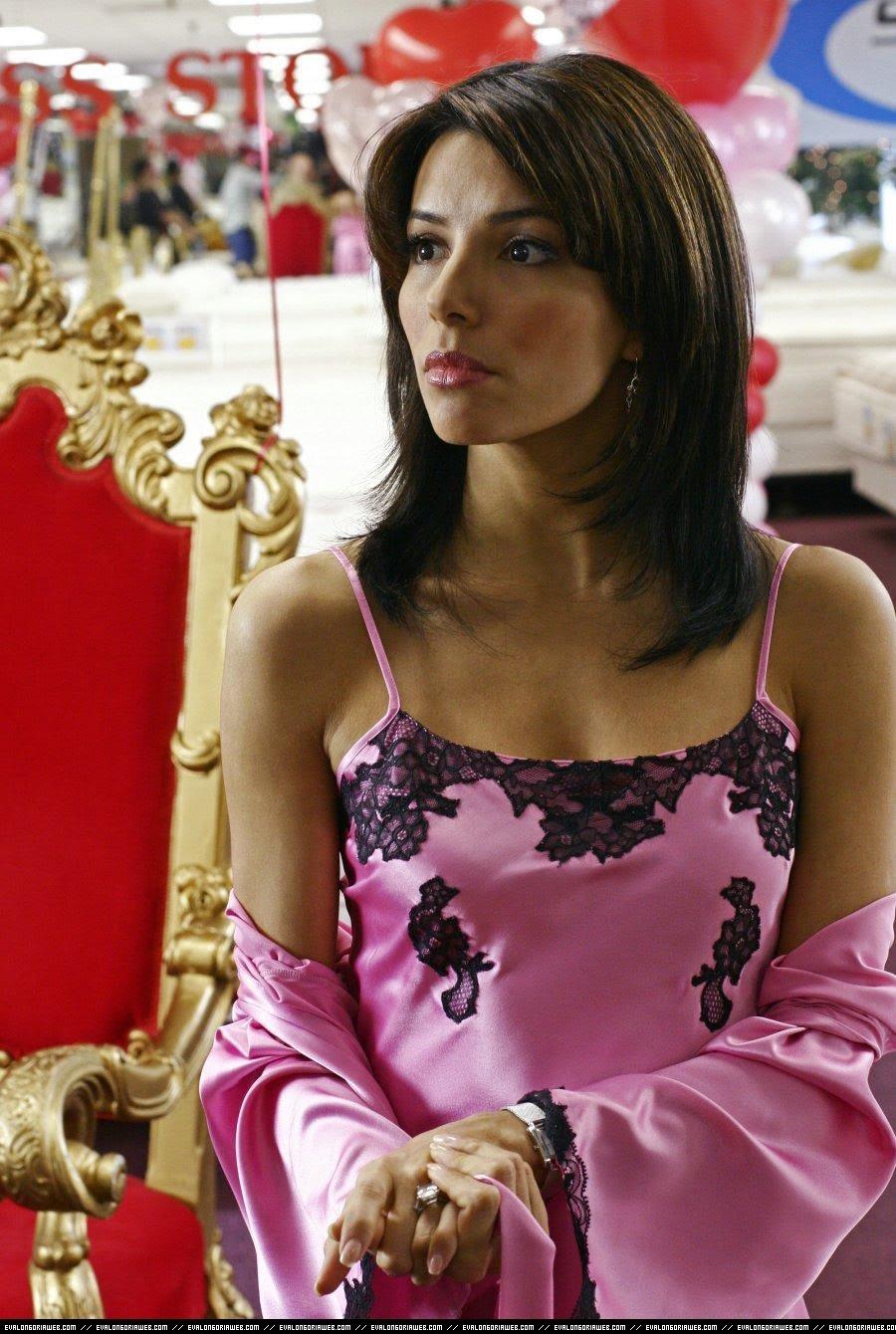 ladies in satin blouses eva longoria pink satin robe. Black Bedroom Furniture Sets. Home Design Ideas