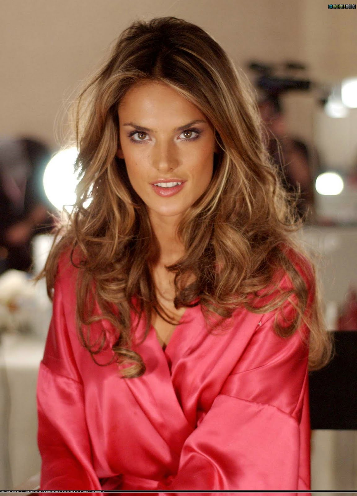 Ladies In Satin Blouses Alessandra Ambrosio Pink Satin Robe