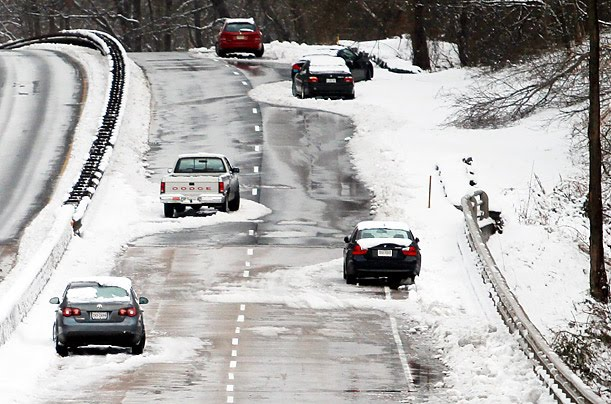 Image result for cars on snowy road