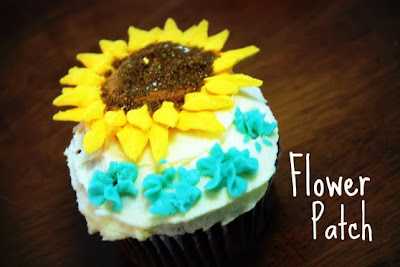 flower patch cupcake