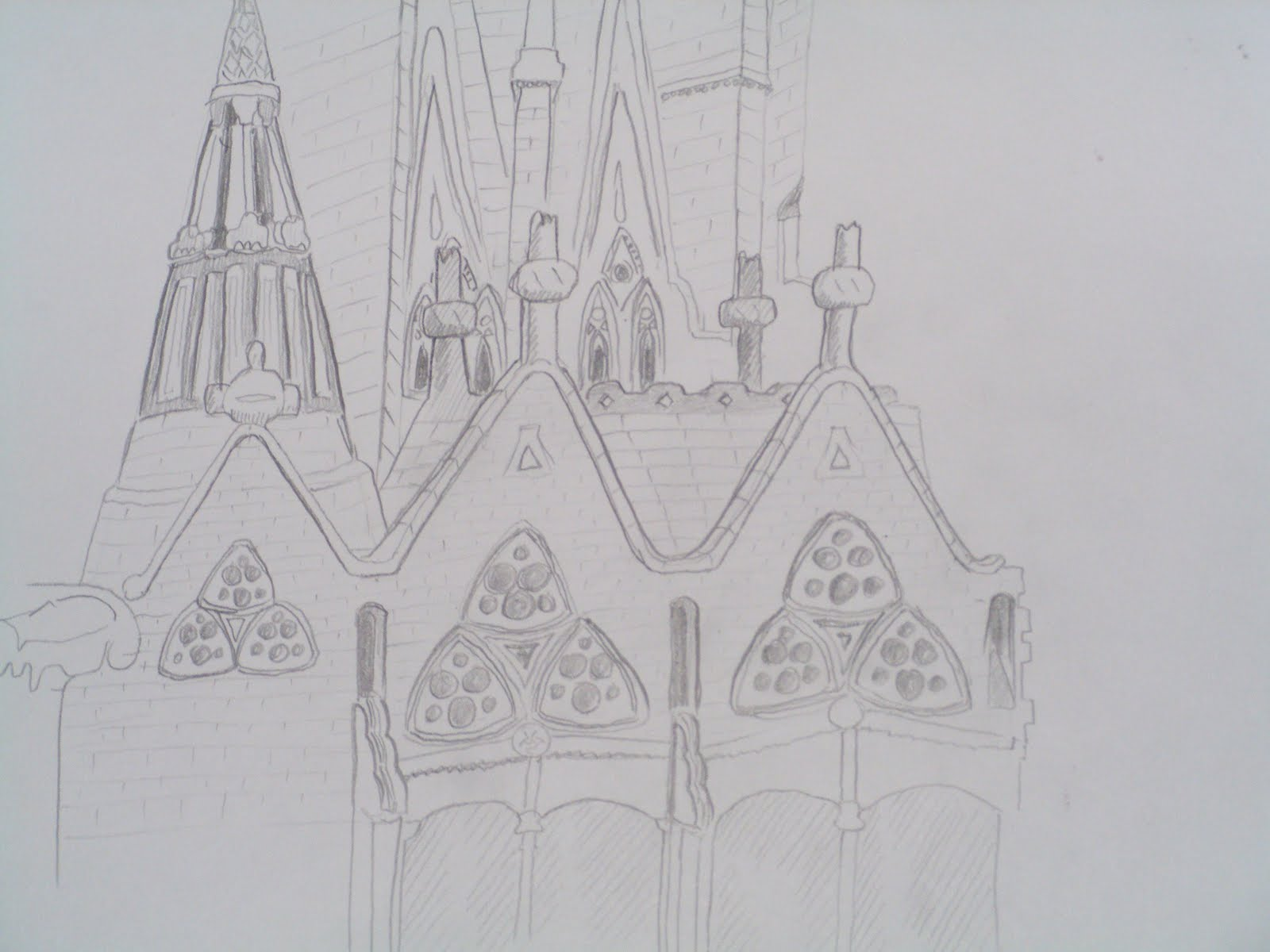 Projects of Zack Booth Simpson: Sagrada Familia sketch