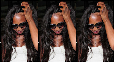 Naomi Campbell's Hair Disappearing