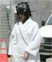 Rihanna On The Set Of 'Disturbia' Video