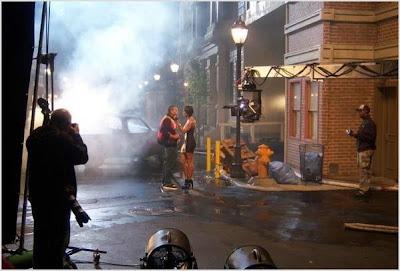 Chris Brown & Keri Hilson On Set Of 'Superhuman'