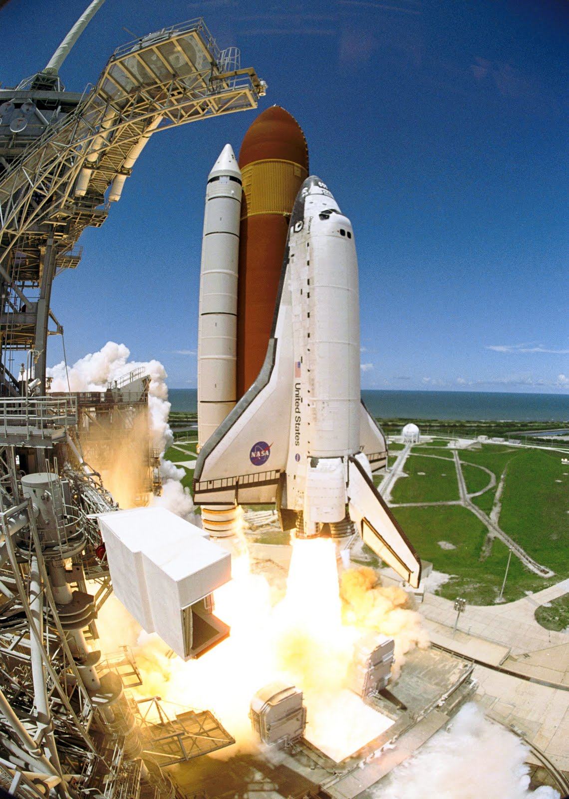 space shuttle launch from station - photo #31