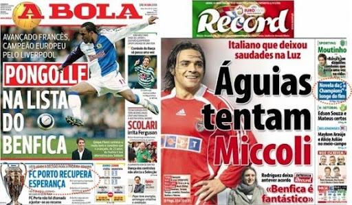 Reflexão Portista  Capas dos jornais de Lisboa d622a63643104