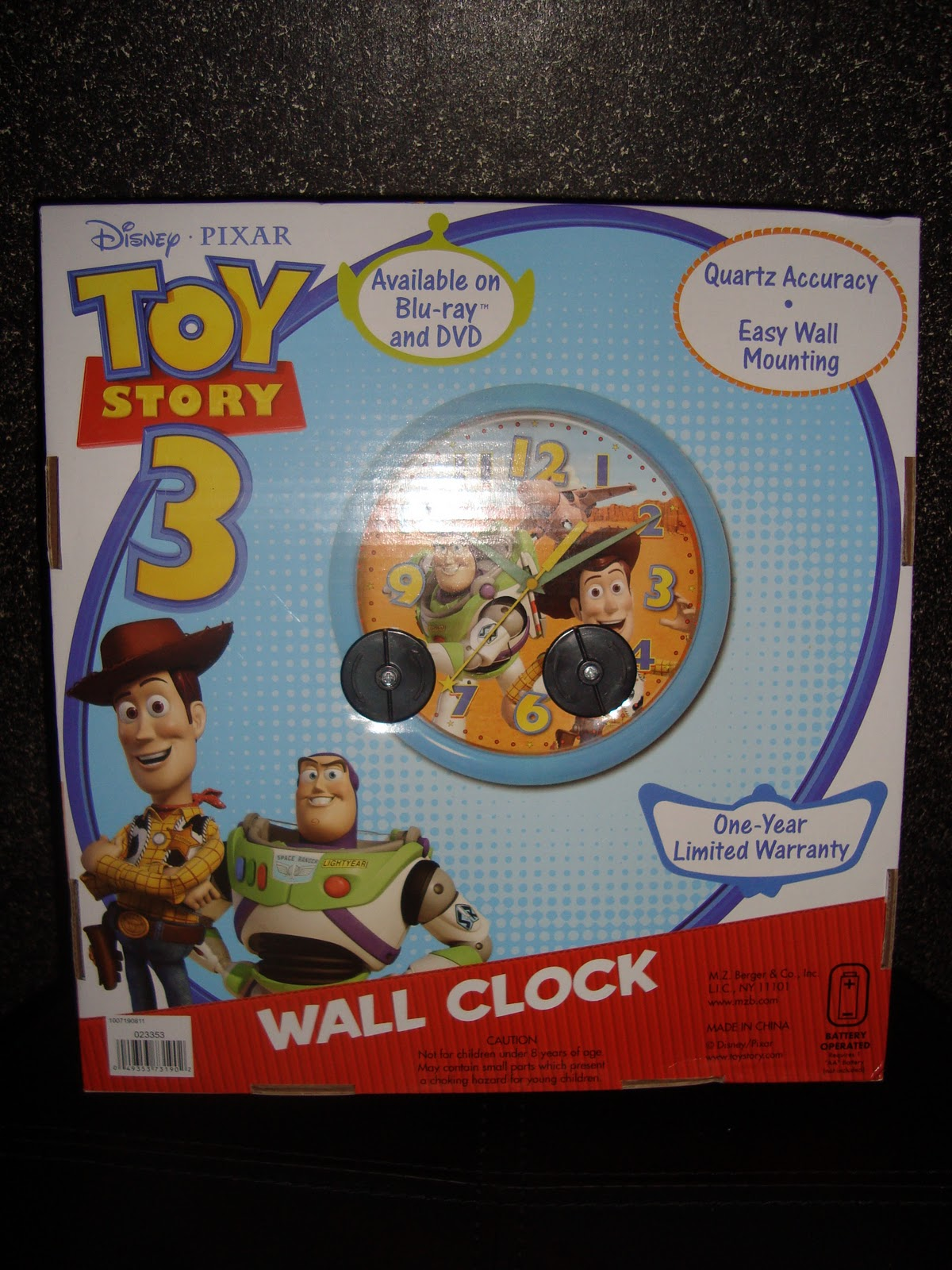 Disney Pixar Fanatics Toy Story 3 Promo Clock