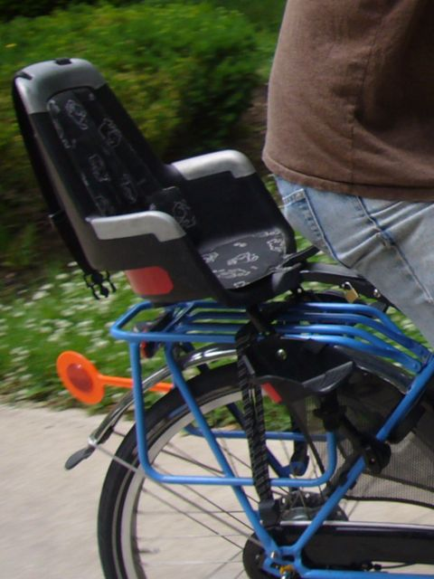 The Bike Chair King And Queen Chairs For Sale Chicargobike Carrying Kids On Folding Bikes Here It Is Mounted A Couple Of Inches Above Pannier Rack Which Just Barely Lets Us Put Two Fully Loaded Panniers Child Back Tandem