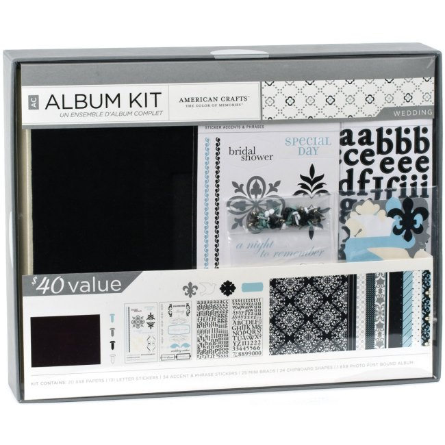 The Wedding Scrapbook Kit is perfect for creating a keepsake album of your