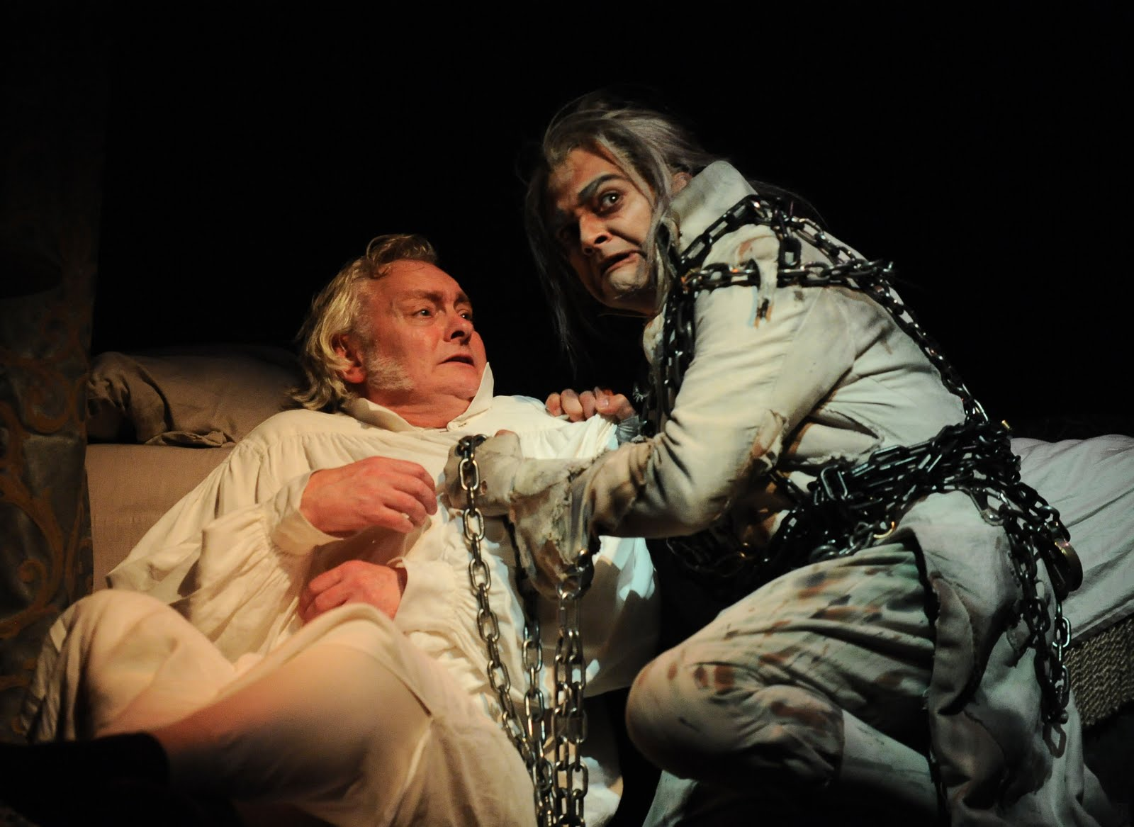 Christmas Carol Scrooge And Marley.Dwight The Connoisseur Goodman Theatre Streamlined A