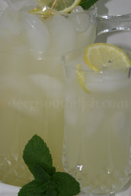 Old fashioned homemade lemonade made with freshly squeezed lemons and simple syrup.