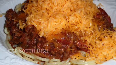 Deep South Dish Chili Spaghetti Homemade Stovetop Beef Chili With Beans