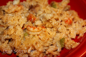 A mixture of long grain rice, Louisiana crawfish tails, cream soups, bell pepper and spicy seasonings brings this rice dressing to life.