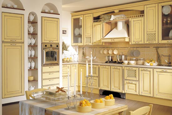 clic italian style wooden kitchen design from provenzale patinata collection
