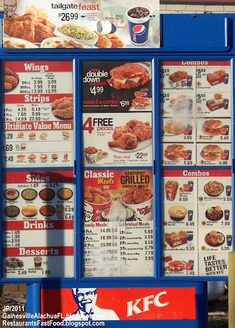 KFC Menu India : KFC Menu with Prices 2011 ~ Prices in India