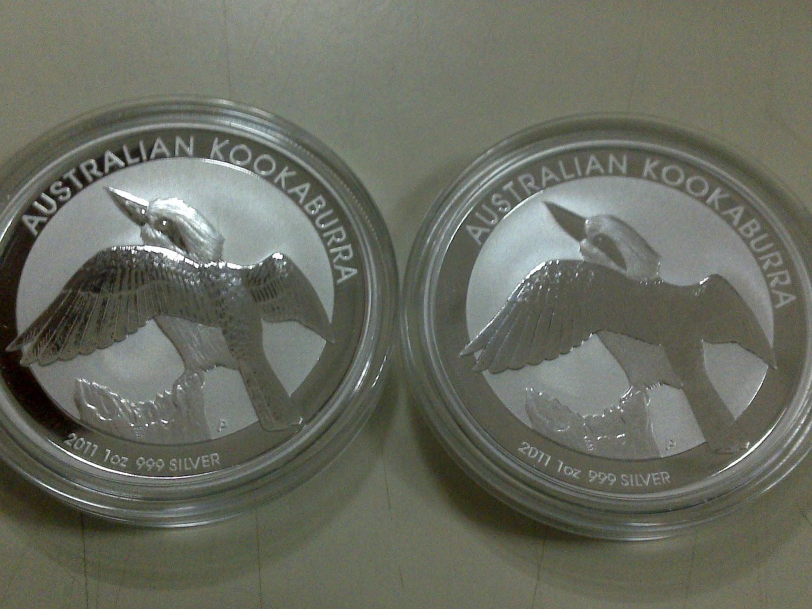 Emasunik2u 1 Oz Australian Kookaburra 2011 Silver Coin