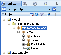 root application module in adf