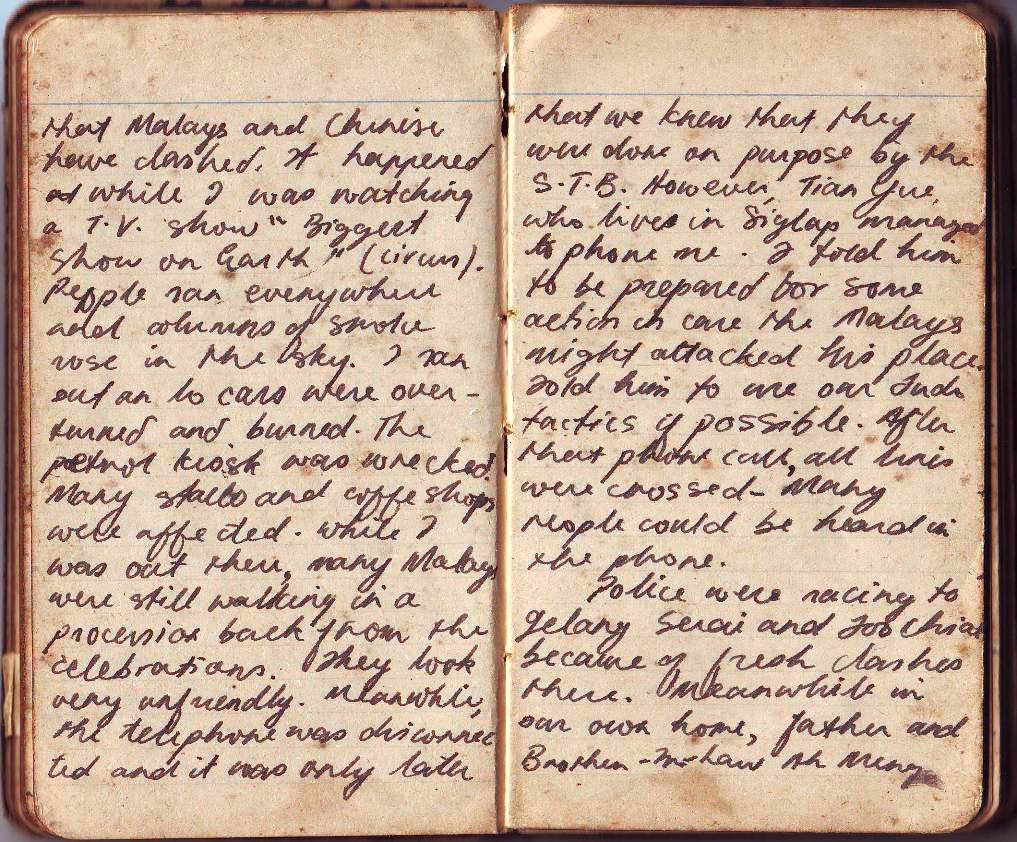 The Wise Old Owl: Actual pages of Unk Dicko's diary  18 to