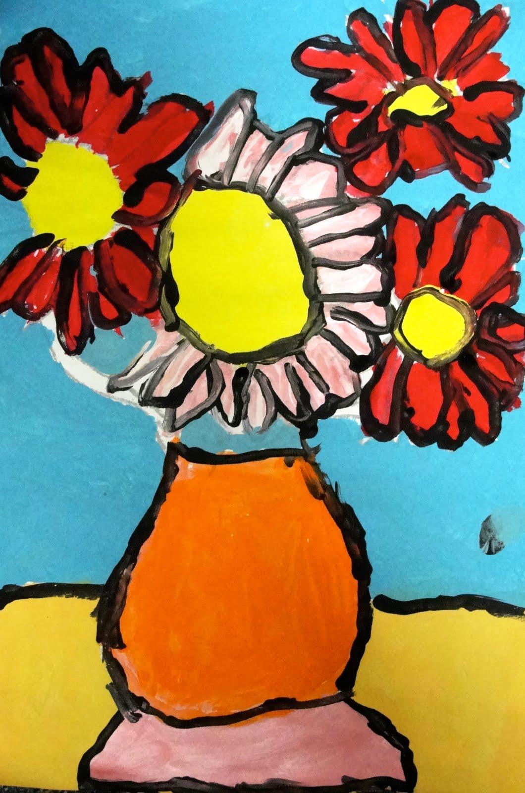 Deep Space Sparkle Art Lessons For Kids Van Gogh Sunflowers Art Lesson