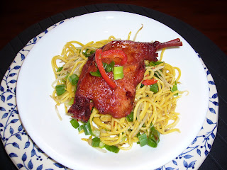 Peking duck noodles