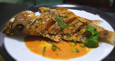 Crispy Fried Fish with Red Curry Sauce